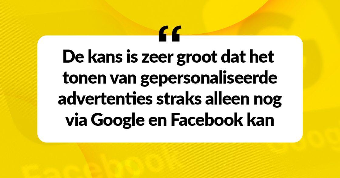 De kruimels van Google en Facebook